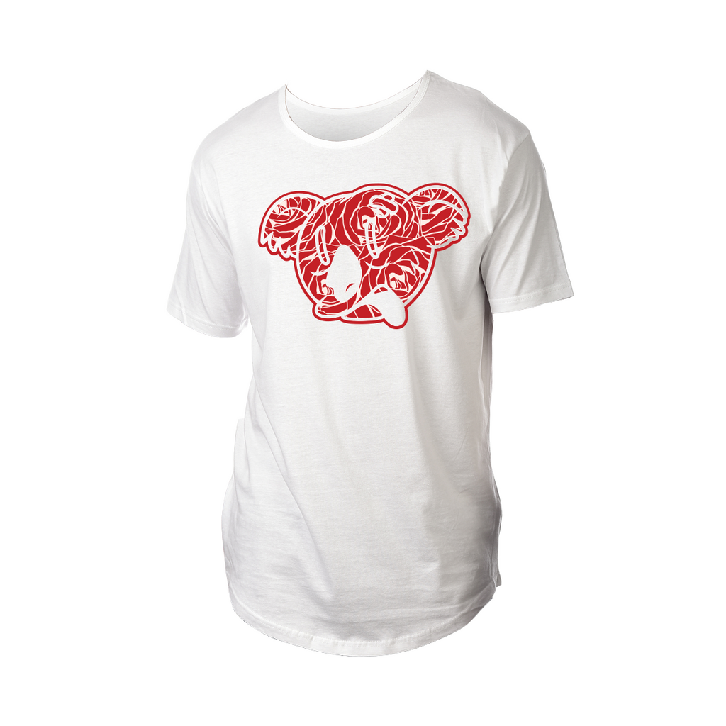 Koala Freak Rose Drop Tail Shirt [White]