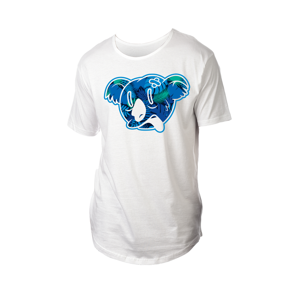 Koala Freak Tropical Drop Tail Shirt [White]