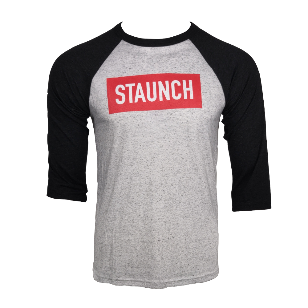 STAUNCH BASEBALL 3/4 TEE [BLACK/GREY]