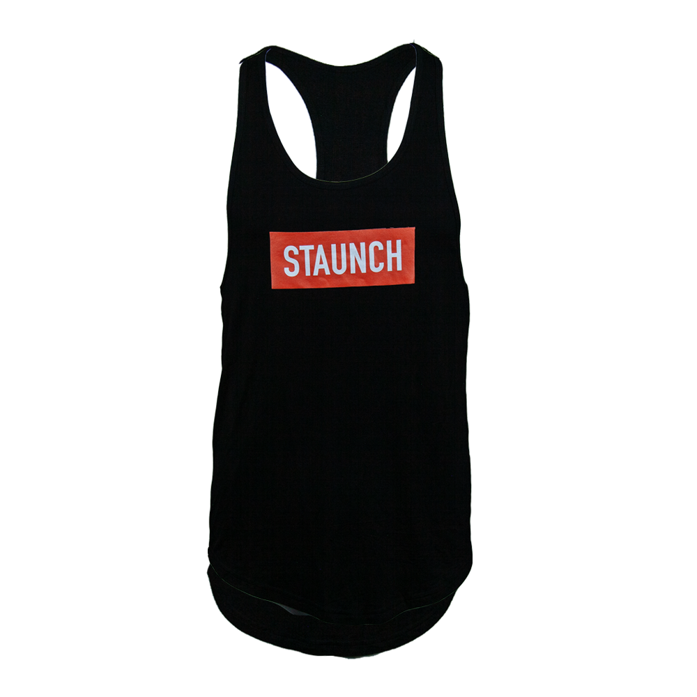 STAUNCH MEN'S Y BACK STRINGER [BLACK]