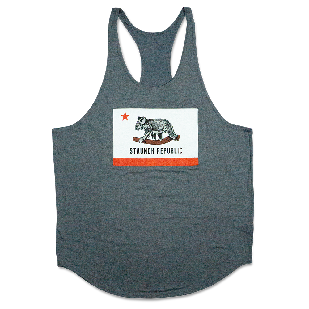 STAUNCH REPUBLIC MEN'S Y BACK STRINGER [GREY]