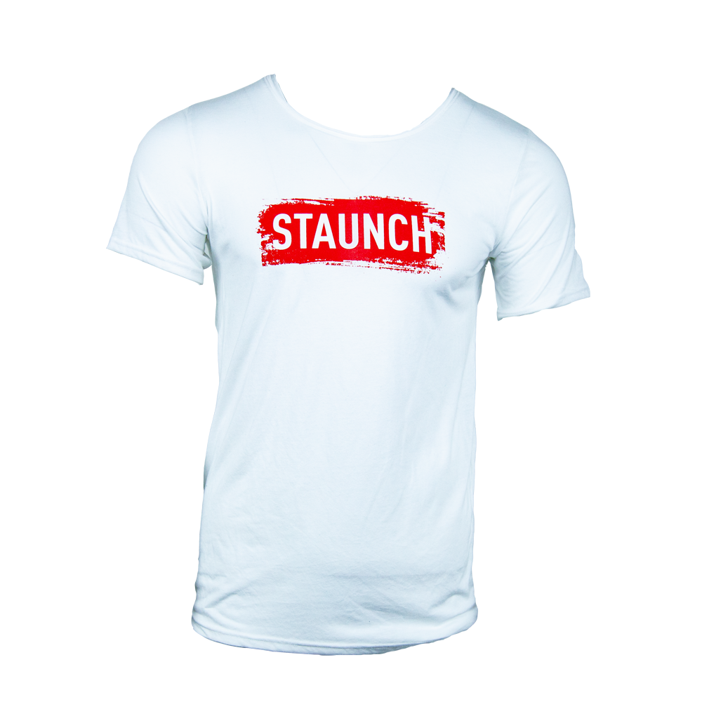 STAUNCH BRUSH RAW NECK [White]
