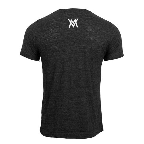VM Lightning Script Poly Cotton Shirt [Charcoal Black Slub]