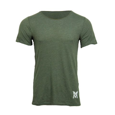Von Moger Extra Raw Neck Shirt [Olive Green]