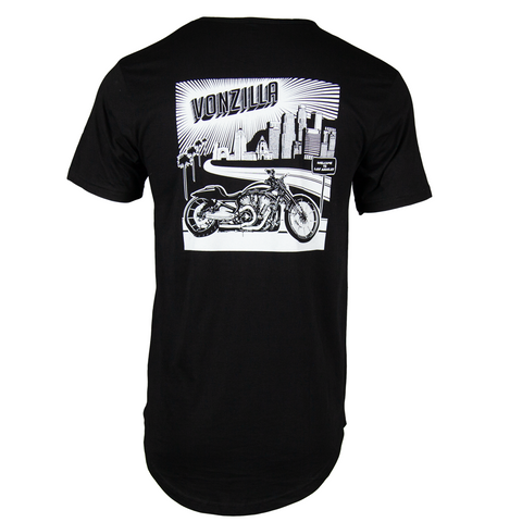 Vonzilla Drop Tail Shirt [Black]