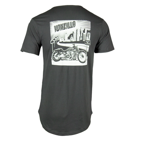 Vonzilla Drop Tail Shirt [Grey]
