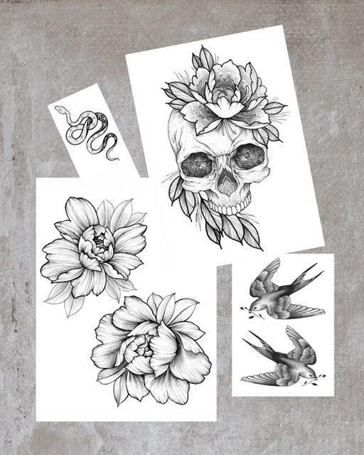 Small Halloween Tattoo Set