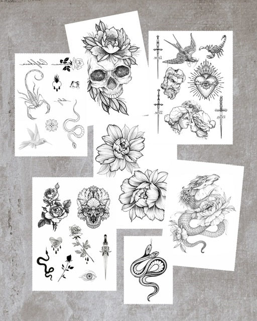 Big Halloween Tattoo Set