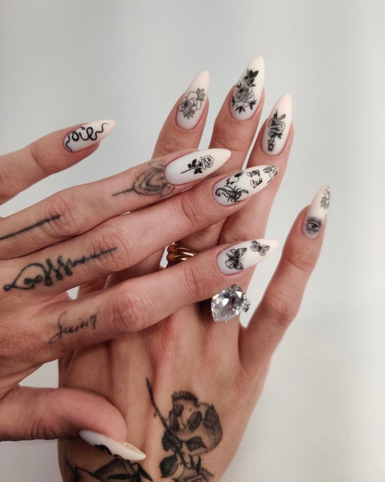 Nail ART Tattoo Set