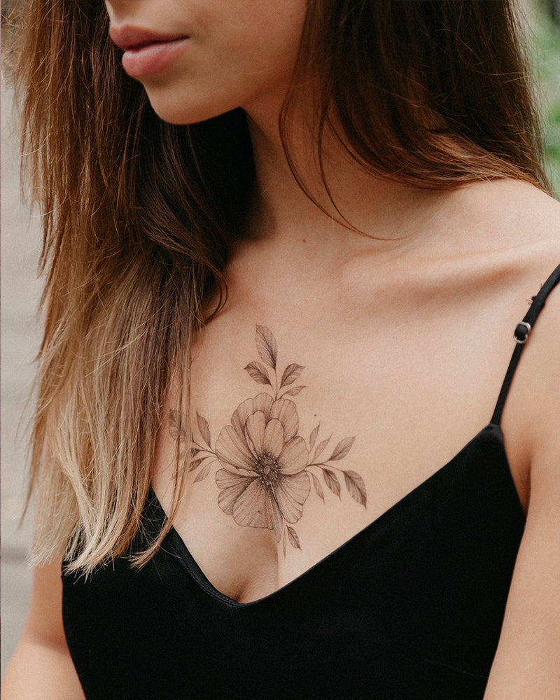 "Tattoo set ""California Flowers"""