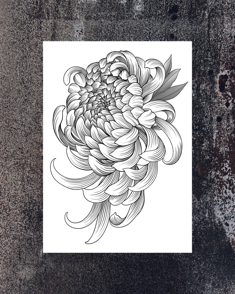 """Chrysanthemum"" tattoo"