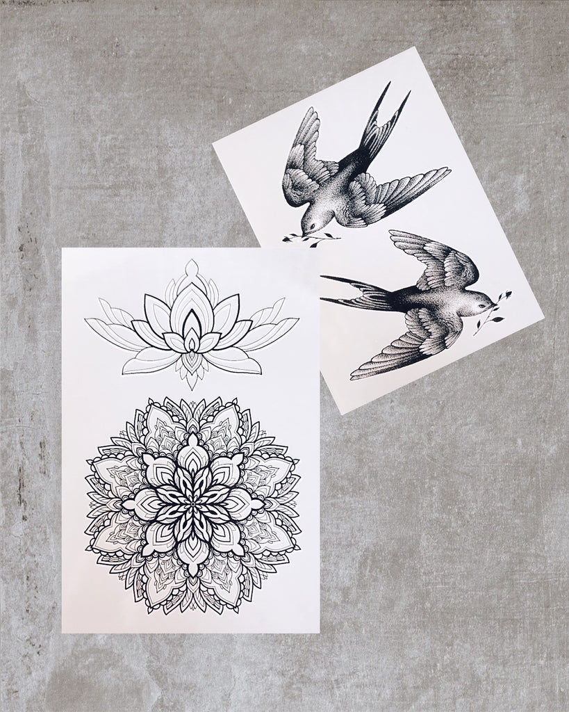 """Sweet Heavens"" Tattoo Set"