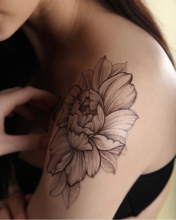 "Tattoo ""Two Flowers"""