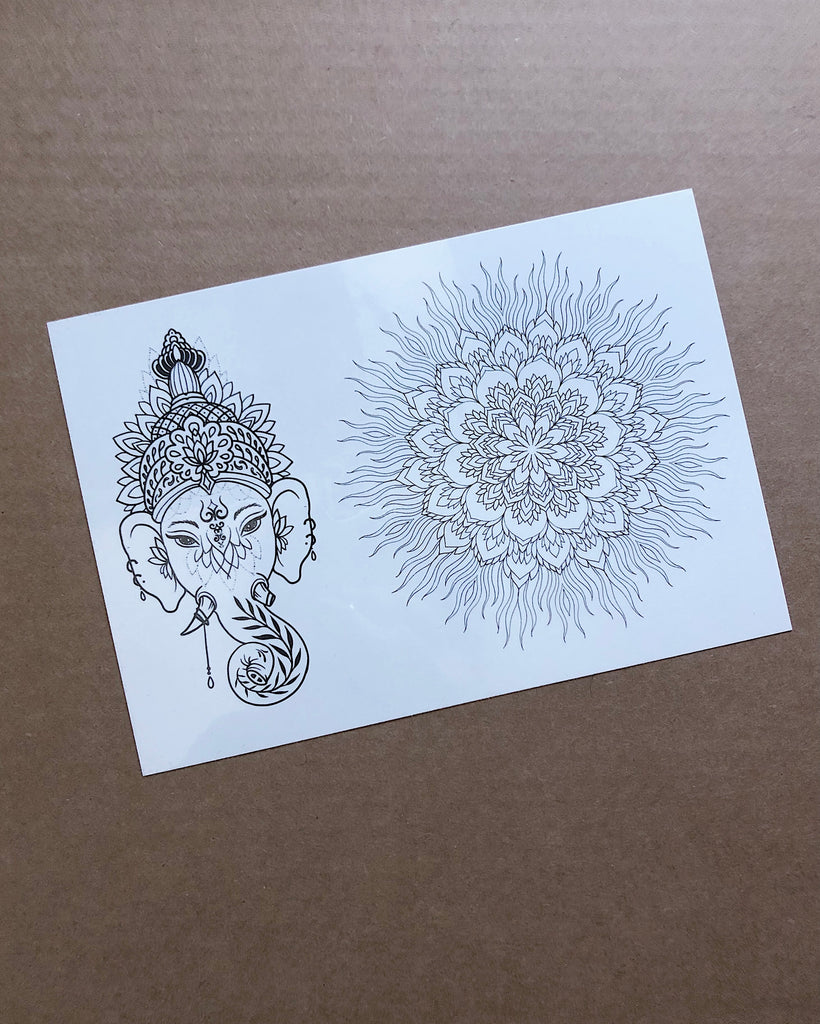 "NEW! ""Ganesha & Mandala"" tattoo"