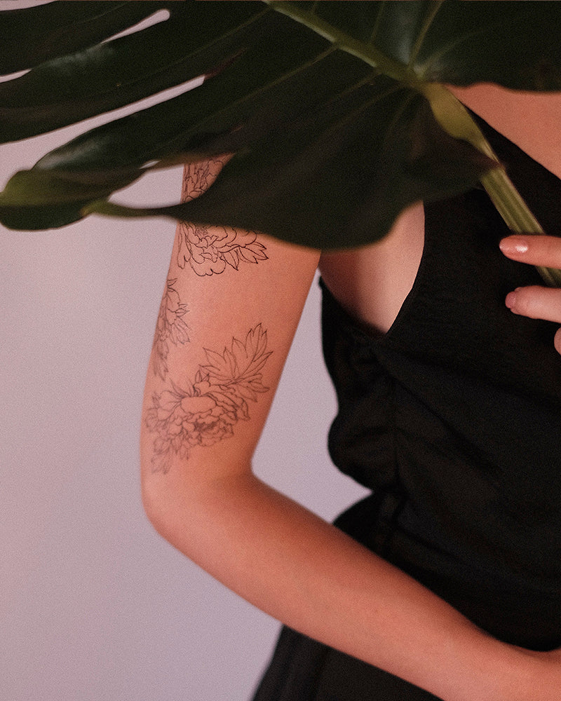 "Tattoo ""Japanese Peonies"""