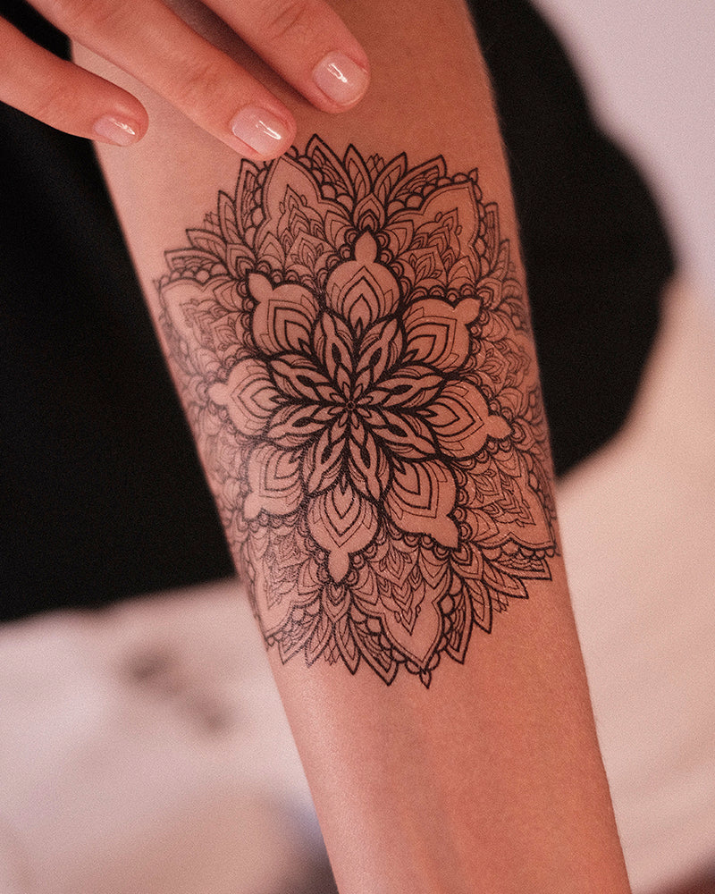 "Tattoo set ""Mandala & Lotus"""