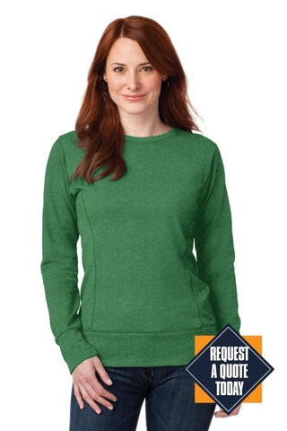 Anvil Ladies French Terry Crewneck Sweatshirt. 72000L Black / S