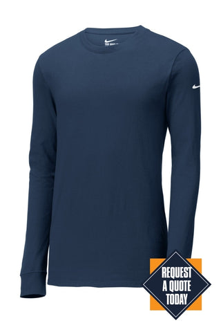 Limited Edition Nike Core Cotton Long Sleeve Tee. Nkbq5232 Anthracite / S T-Shirts