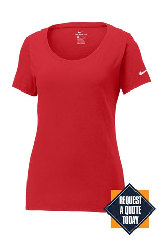 Limited Edition Nike Ladies Core Cotton Scoop Neck Tee. Nkbq5236 Anthracite / S