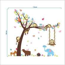 Load image into Gallery viewer, Forest Animal Tree Wall Decal