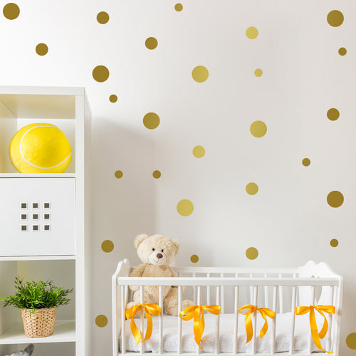 Circle Gold Wall Decal