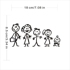 Family of 5 Car Sticker