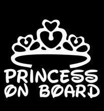 Load image into Gallery viewer, Princess on Board Car Sticker