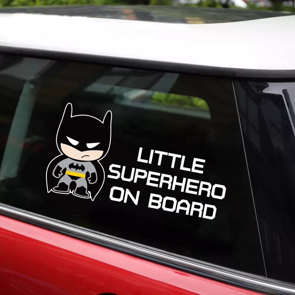 Little Superhero Batman Car Sticker