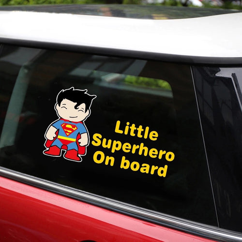 Little Superhero Superman Car Sticker