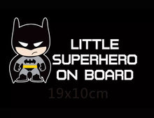 Load image into Gallery viewer, Little Superhero Batman Car Sticker