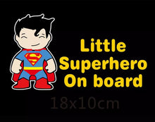 Load image into Gallery viewer, Little Superhero Superman Car Sticker