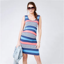 Load image into Gallery viewer, Maternity and Nursing Dress Maritime Stripes