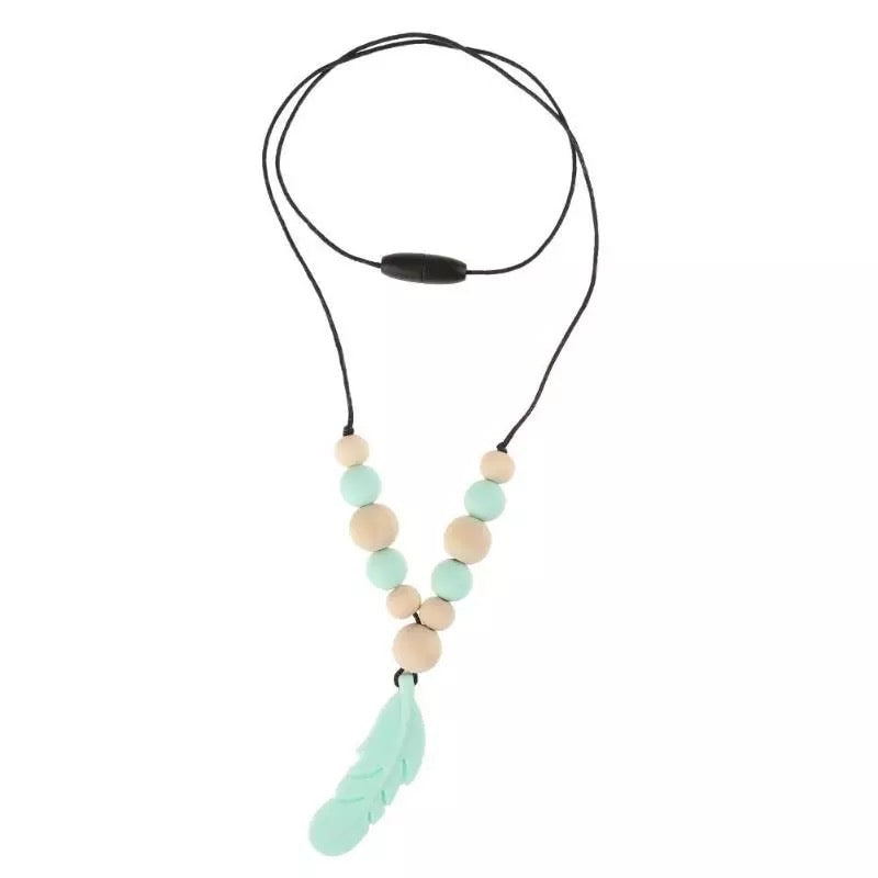 Silicone Teething Fern Necklace