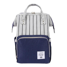 Load image into Gallery viewer, Chicago Stripes Diaper Bag (more colours available)