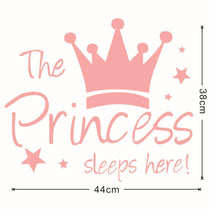 Load image into Gallery viewer, Princess Sleeps Here Wall Decal