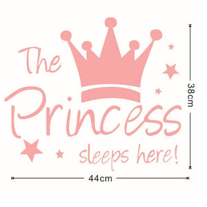Princess Sleeps Here Wall Decal