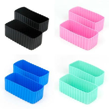 Load image into Gallery viewer, Bento Cups - Silicone Rectangle 2pk
