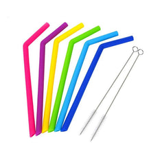 Load image into Gallery viewer, Reusable Silicone Smoothies Straw Bend