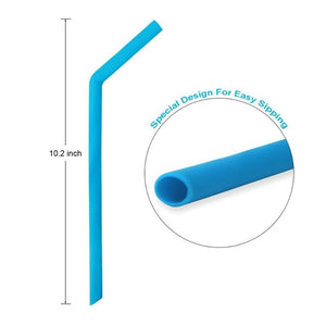 Reusable Silicone Smoothies Straw Bend