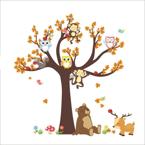 Bear Under the Tree Wall Decal