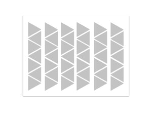 Triangle Silver Wall Decal