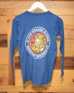 Blood Orange Blonde Long Sleeve Navy Blue