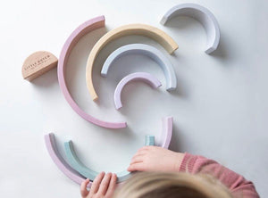 Little Dutch- Wooden Rainbow - Pink