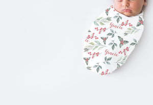 Christmas Personalised Swaddles