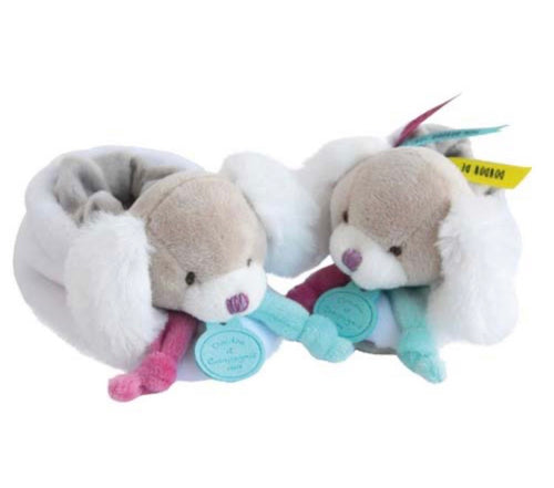 Doudou et Compagnie - Toopi Puppy Rattle Booties