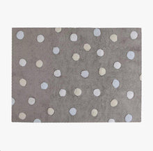 Dotty Rug – Grey & Blue