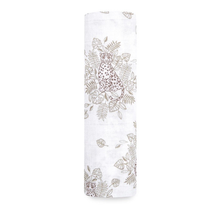Aden and Anais- Cotton Muslin Swaddle Jungle