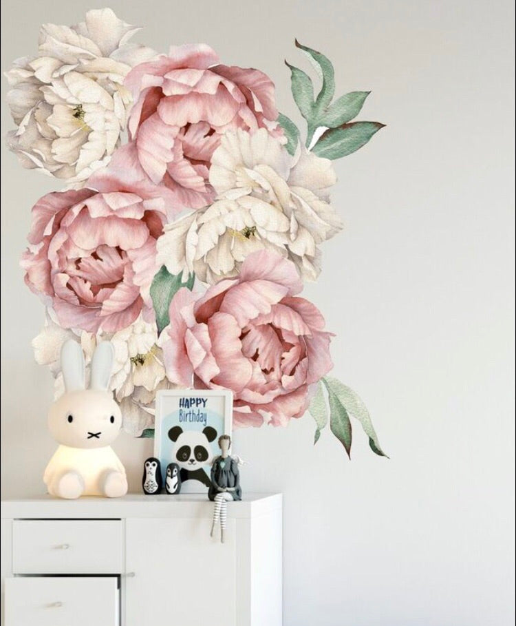 Peony  - Cream and Pink