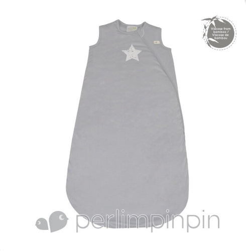 Bamboo Sleepsack- Grey with Star- 1 Tog