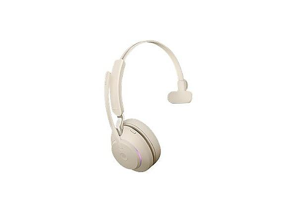 Jabra Evolve2 65 Mono USB-A MS Headset - Beige